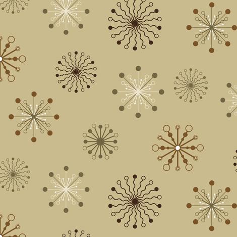 Stylized flakes pattern - Brown fabric by souffledarmonie on Spoonflower - custom fabric