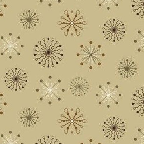 Stylized flakes pattern - Brown