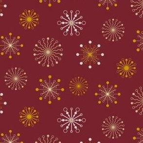 Stylized flakes pattern - Red