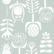 Proteas on tap background, screenprint floral design,