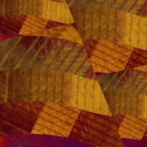 Corduroy Strips IN Rust