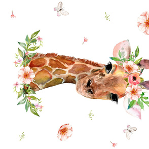 "42""x36"" / FLORAL GIRAFFE / 90 DEGREES"