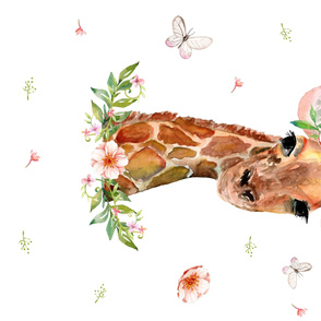 "54""X36"" FLORAL GIRAFFE / 90 DEGREES"