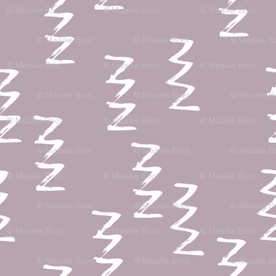 Geometric raw zigzig thunder lightning thunderbolt memphis style modern abstract brush strokes violet XS
