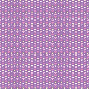 Tiny purple pink hearts