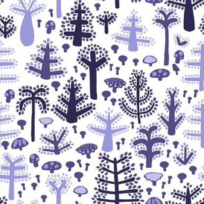 Purple Trees on white
