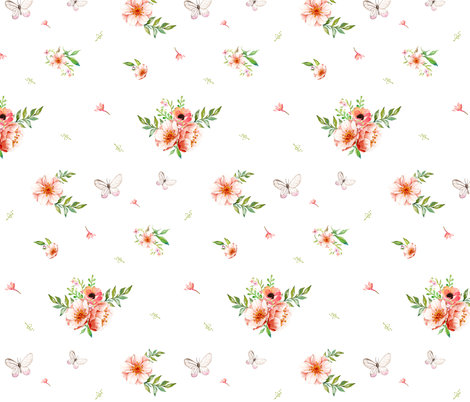 "8"" FLORAL GIRAFFE FLORALS fabric by shopcabin on Spoonflower - custom fabric"