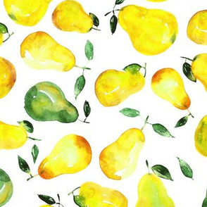 Watercolor pears