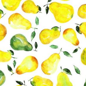 Watercolor pears