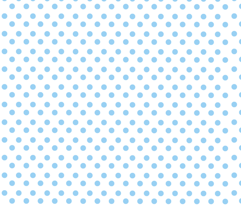 Polka Light Blue Dots on White Background fabric - ricobel ...