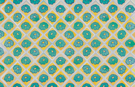 Yellow Zinnea Flower fabric by jvclawrence on Spoonflower - custom fabric