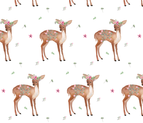"8"" Sweet Deer fabric by shopcabin on Spoonflower - custom fabric"