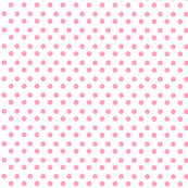 Polka Light Pink Dots on White Background
