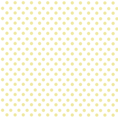 Polka Light Yellow Dots on White Background