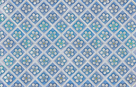 Blue & Grey Leadwort Flowers fabric by jvclawrence on Spoonflower - custom fabric