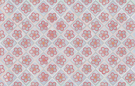 Red & Grey Leadwort Flowers fabric by jvclawrence on Spoonflower - custom fabric