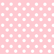 Polka White dots on Lovely Light Pink Background