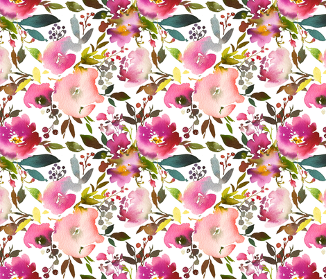 Summer Night Florals fabric by hipkiddesigns on Spoonflower - custom fabric