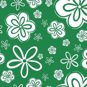 Oopsy Daisy - greeny inverse