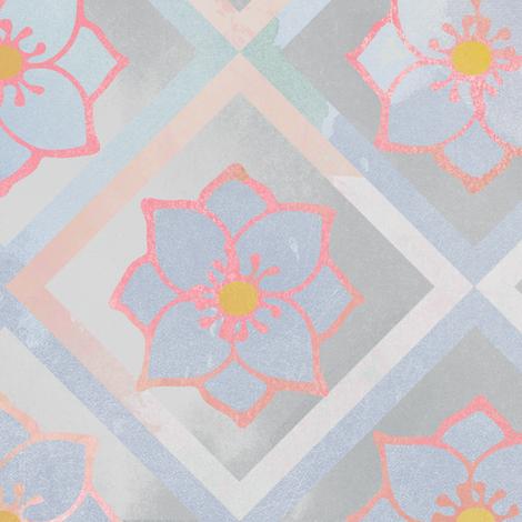 Grey Columbine Flower fabric by jvclawrence on Spoonflower - custom fabric