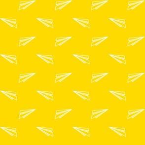 Origami Planes Yellow