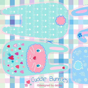 Cuddle Bunnies ­­­­­­­♥ - pastel cut and sew
