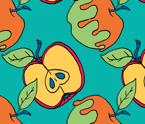 Apple_pattern fabric by karensawesomethings on Spoonflower - custom fabric