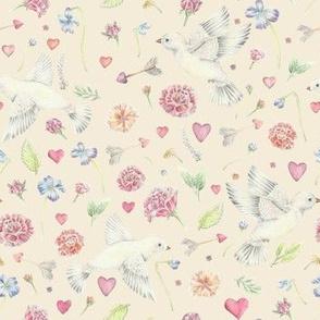 Cupid's Messenger Pattern Cream