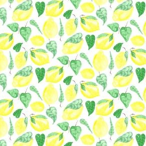 Lemon lemonade yellow fruit food citrus summer small_Miss Chiff Designs