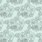 Succulent Mint Green Hand Drawn Illustration Cactus_Miss Chiff Designs