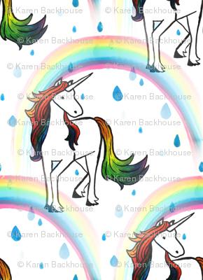 Unicorn rainbow repeat