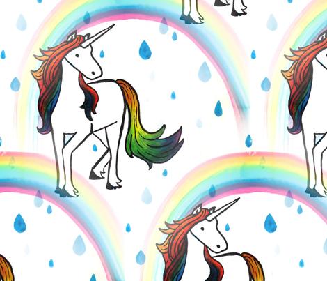 Unicorn rainbow repeat fabric by karensawesomethings on Spoonflower - custom fabric