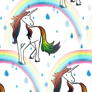 Unicorn rainbow repeat