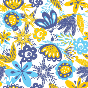 pattern blue and yellow