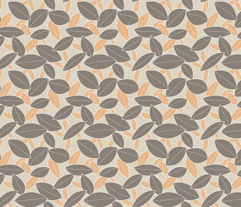 Scattered Leaves (Serene) fabric by brendazapotosky on Spoonflower - custom fabric
