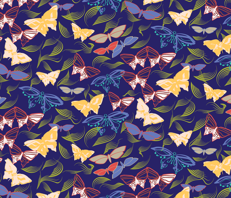 SBlueEverythingBF fabric by choffman on Spoonflower - custom fabric