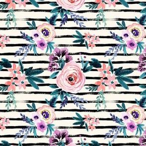 Victoria Floral Stripe S