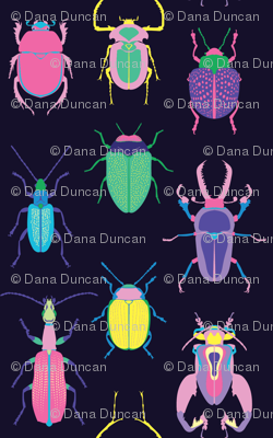 Pop Art Beetles Dark Big
