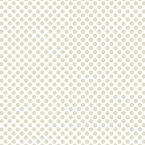 Beige Polka Dots Lemon Tree_Miss Chiff Designs
