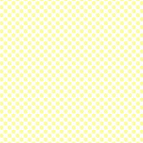 Lemon Yellow Polka Dot Fruit on White_Miss Chiff Designs