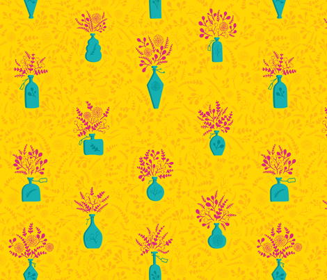 Botanical Scents –Bright fabric by bexdsgn on Spoonflower - custom fabric