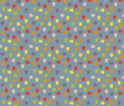Signac stars fabric by greennote on Spoonflower - custom fabric