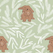 Baby rabbit pastel green