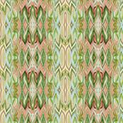 Digital Dalliance, coral, green and aqua