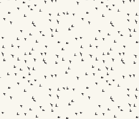 Scattered flock of birds (light) fabric by melissa_boardman on Spoonflower - custom fabric