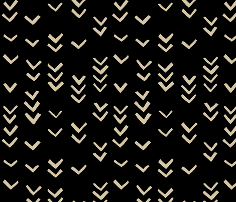 Very Abstract Seagulls Pattern (black) fabric by melissa_boardman on Spoonflower - custom fabric