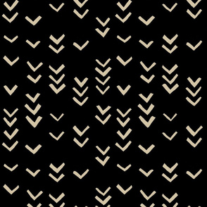 Very Abstract Seagulls Pattern (black)