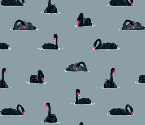 Black Swan Pattern fabric by melissa_boardman on Spoonflower - custom fabric