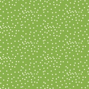 Silver Dots on Ferny Green