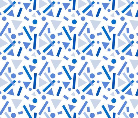 Blue Shapes fabric by bashfulbirdie on Spoonflower - custom fabric
